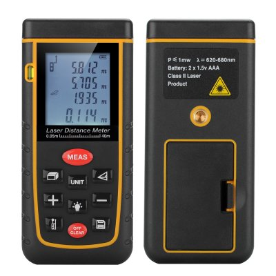 0.05 To 40M Laser Distance Meter
