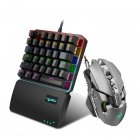 Mechanical Game Mouse J800 Luminous Adjustable Lighting Mouse DPI Max 6400 Mouse + one-handed keyboard