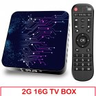 Media  Player 2+16g Abs Material Tp02 Rk3318 Android 10 Tv Box With Remote Control 2+16G_BU plug