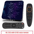 Media  Player 2+16g Abs Material Tp02 Rk3318 Android 10 Tv Box With Remote Control 4+32G BU plug+G10S remote control