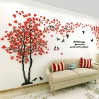 Medium Stylish Lovers Tree 3D Wall Sticker Family Wall Stickers for Living Room Bedroom Wall Decoration Left version