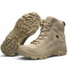 Men Army Tactical Combat Military Ankle Boots Outdoor Hiking Desert Shoes sand color_46