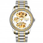 Men Automatic Mechanical Watches Silver Gold