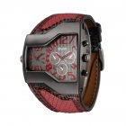 Oulm HP-1220 Men Quartz Watch - Red