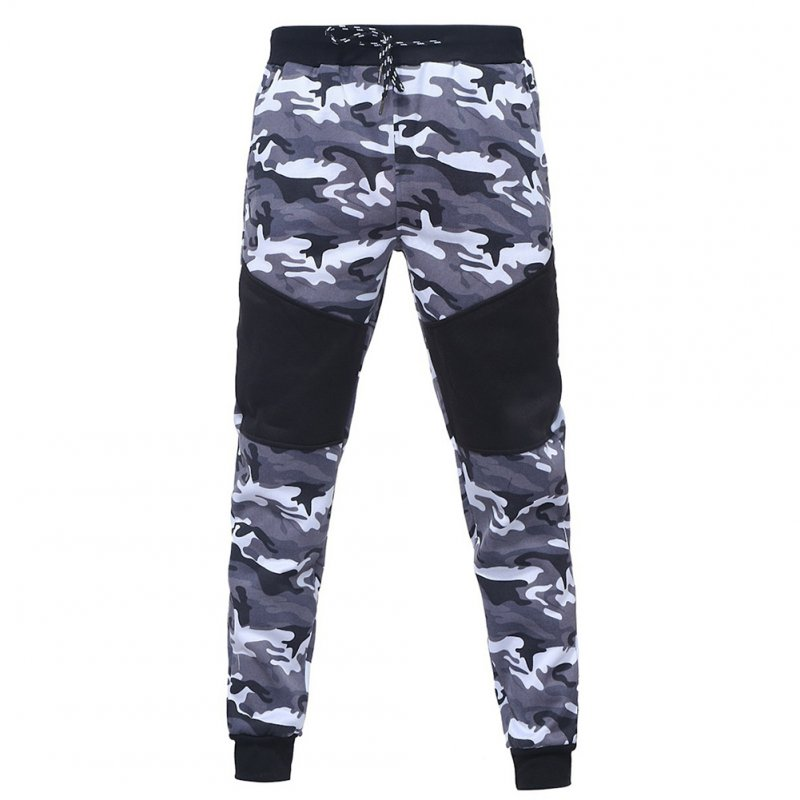 Men Camouflage Matching Sports Trousers