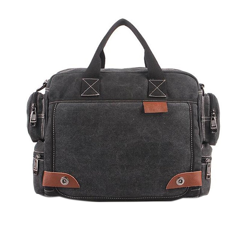 Men Canvas Crossbody Bag Casual All-match Messenger Shoulder Bags Christmas Gifts