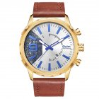 Oulm HP-3640 Men Quartz Watch - Coffee color