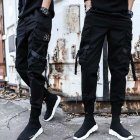 Men Casual Haren Trousers Middle Waist Solid Color Style for Sports Daily Wearing 603# _L