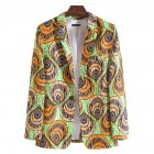 Men Casual Suit African Ethnic Style Printing Single Breasted Casual Suit XF208_L