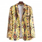Men Casual Suit Casual African Ethnic Style Printing Single Breasted Coat XF210 M