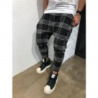 Men Casual Trousers Tight Trousers Foot Loose Long Pants  black_M