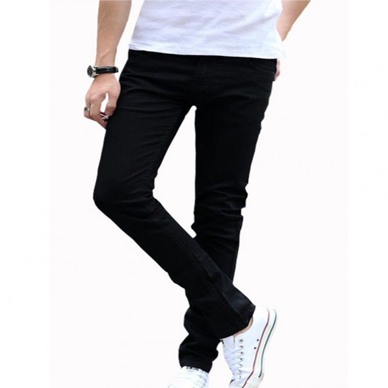 Men Fashion All-match Straight Leg Jeans