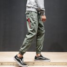 Men Fashion Casual Loose Cotton Casual Ankle Banded Pants Trousers ArmyGreen_M