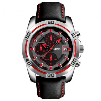Men Fashion Luxury Quartz Wristwatch Red