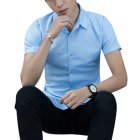 Men Solid Color Business Attire Tops