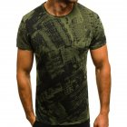 Men Fashion Slim Short Sleeve Round Collar T-Shirt Chic Camouflage Printing Tops