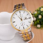 Men Fashion Stainless Steel Belt Watches Concise Business Style Quartz Watch  white