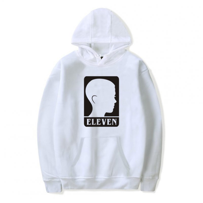 Men Fashion Stranger Things Printing Thickening Casual Pullover Hoodie Tops white-_S