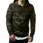 Men Fashionable Hoodie Cool Camouflage Sweater Casual Camo Pullover green XL