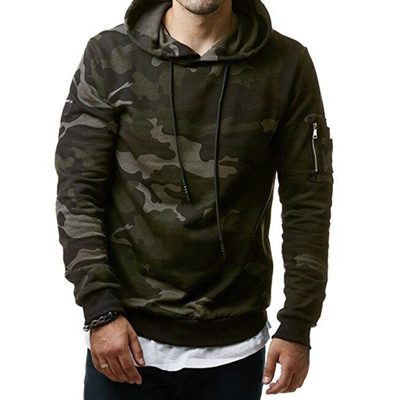 Men Hoodie Cool Camouflage Sweater