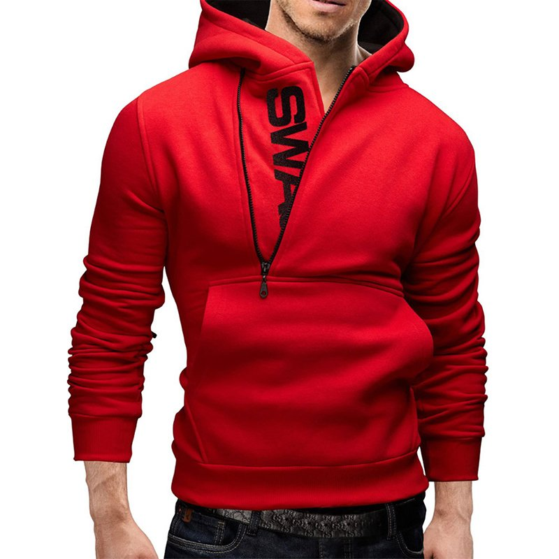 Men Fashionable Hoodie - Red M