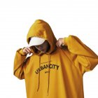 Men Hoodie Boy Hooded Top Casual Daily Wear Loose Edition Sportswear Jogging Clothing yellow_L