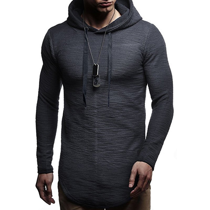 Men Hoodie Warm Casual Hooded Sweatshirt Pullover Coat Top Outwear