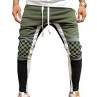 Men Jogger Stadium Gymnasium Runway Colorful Striped Runway Casual Pants ArmyGreen_XL
