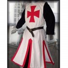 Men Knight Templar Costume for Halloween Party Stage Performance red XXXL