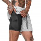 Men Large Size Fitness Training Jogging Sports Quick-drying Shorts silver gray_L