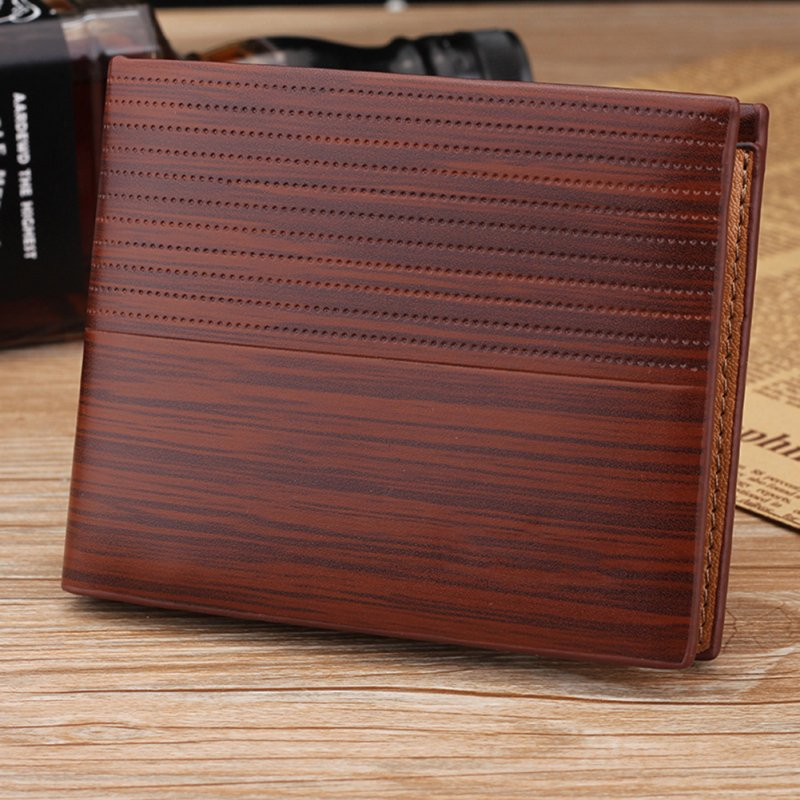 Men Business Leather Short Purse Wallet