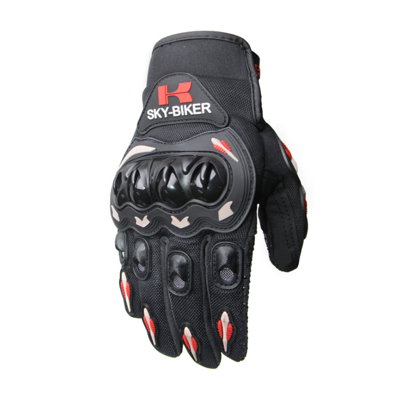 Men Motorcycle Riding Protective  Gloves For  Riders  Bikers Orange_XL