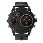 Men Oulm Quartz Sports Watch Red
