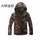Men Outdoor Soft-shell TAD Shark Skin Waterproof Windproof Warm Breathable Jacket Coat