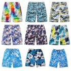 Men Quick Dry Printing Beach Sports Shorts Random Flower color random_One size