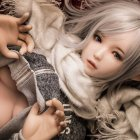 Men Silicone Sex Toy Big Breast Sex Doll Realistic Full Body Adult Love Doll with Pubes 115cm