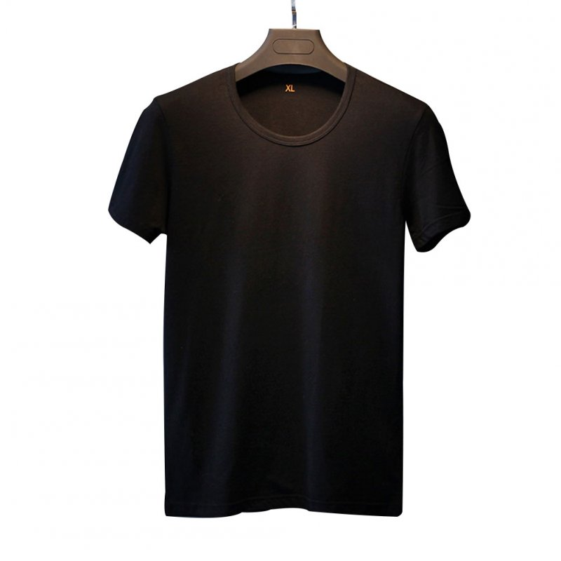 Men Soft Cotton Casual Breathable Short Sleeve T-shirt