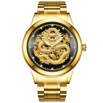 Men Mechanical Watches - Gold Black