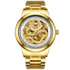 Men Mechanical Watch Dragon Style - Gold