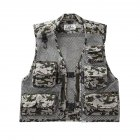 Men Summer Casual Camo Vest Multi-pocket Breathable Mesh Hiking Hunting Vest Professional Photography Jacket Grey Camo_XL