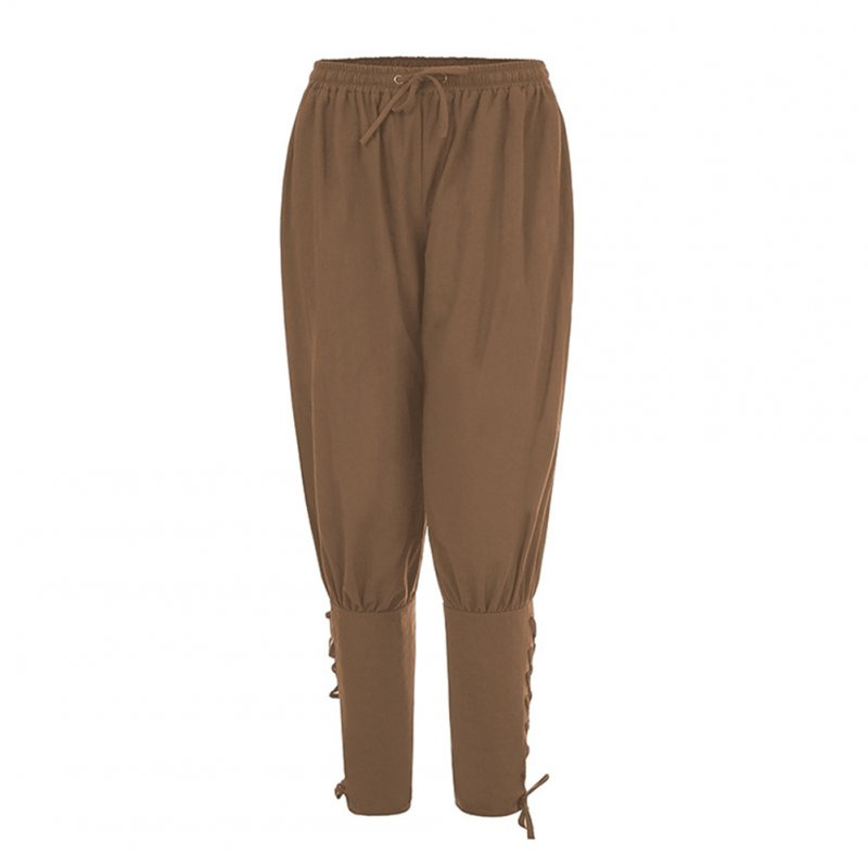 Men Summer Casual Pants Trousers Quick-drying Sports Pants Khaki_S