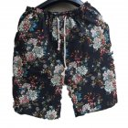 Men Summer Print Hawaii Loose Drawstring Short Pants Casual Beach Shorts    B_XL