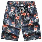 Men Summer Quick Dry Seaside Beach Shorts for Surfing  Water and grass_L