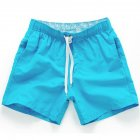 Men Summer Soft Beach Swimming Short Pants sky blue_XXL