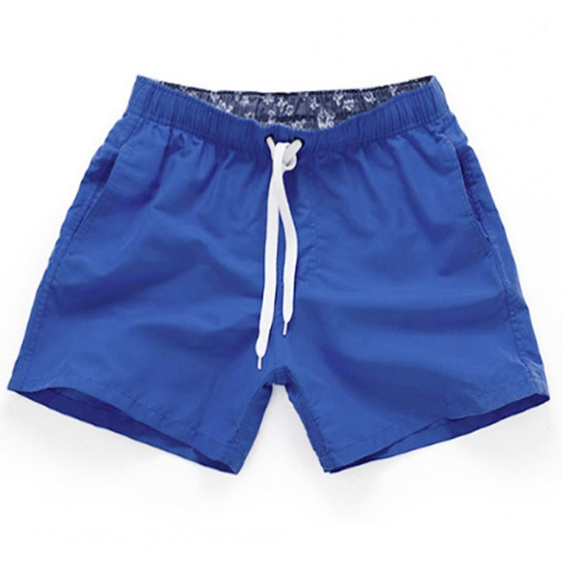 Men Summer Soft Beach Swimming Short Pants royalblue_XXL