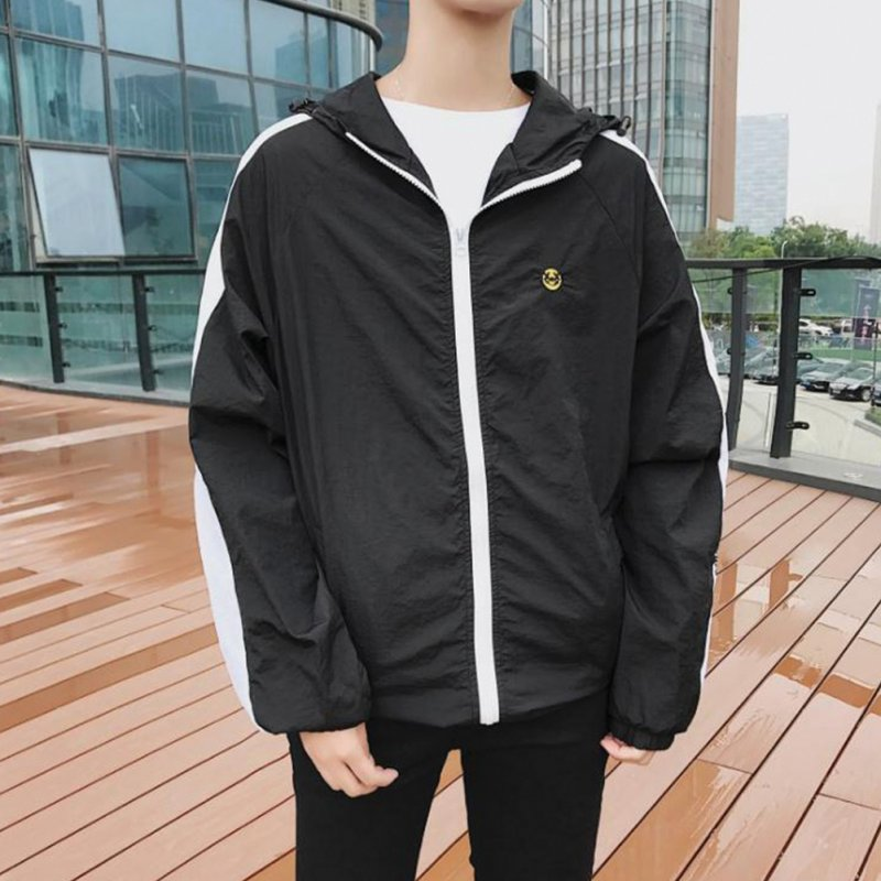 Men Sunscreen Outdoor Jacket Breathable Anti-UV Quick Dry Thin Fashionable Coat for Sports