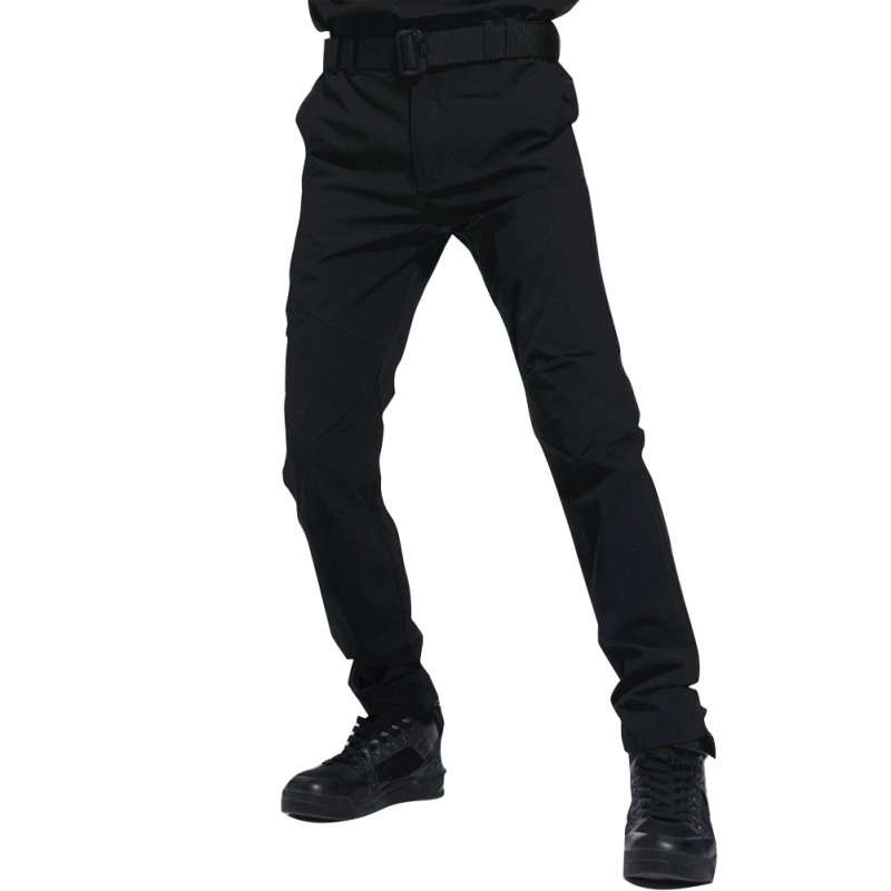 Men Thin Wear Resistant Cargo Pants with Pockets black_L