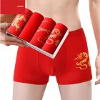 Men Underwear Cotton Red Underwear Combination one_XL [55-65KG]