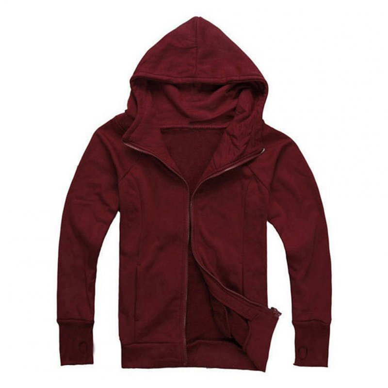 Men Zipper Hoodie Slim Fit Jacket Coat