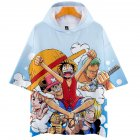 Men Women 3D Digital Printing Cartoon One Pieces Short Sleeve Hooded T Shirt Q-5687-YH09 A _S
